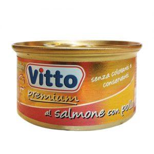 vitto al salmone con pollo