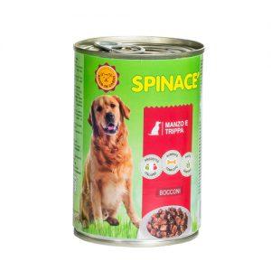 bocconi spinacè per cane al manzo