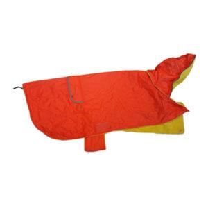 impermeabile arancione cane