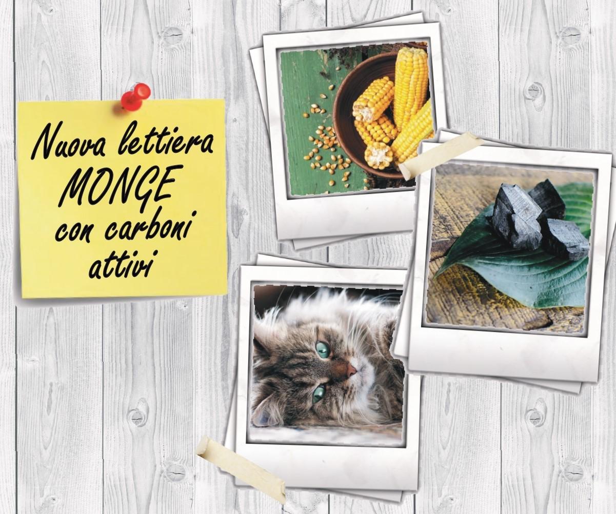 Nuova lettiera Monge Easy Green con carboni attivi